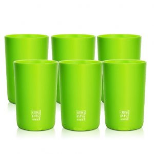Green Cups 200ml – Kit 6 Copo Eco Cana de Açúcar (Verde)