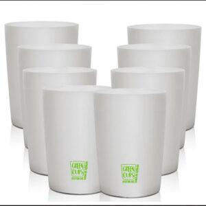 Green Cups 320ml – Kit 8 Copo Eco Cana de Açúcar