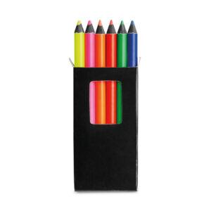 MERLIM. Caixa com 6 lápis de cor
