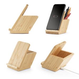 LEAVITT II. Carregador wireless em bambu